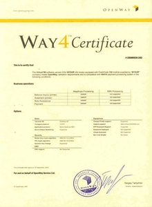 Certification for the OpenWay